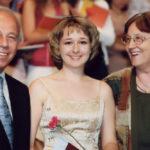 Московская консерватория, июнь 2007. Профессор Т.А. Алиханов, Елена, профессор Л.В. Рощина