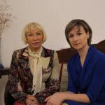 Vera Tariverdieva et Eléna Tarasova au musée Marina Tsvetayeva