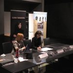 Анна Янчишина и Елена Тарасова на презентации альбомов в Москве.