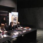 Анна Янчишина, Елена Тарасова и Елена Корженевич на презентации альбомов в Москве.